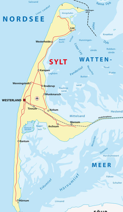 Karte Von Sylt.Sylt Alles Für Ihren Sylt Urlaub Auf Sylt Net